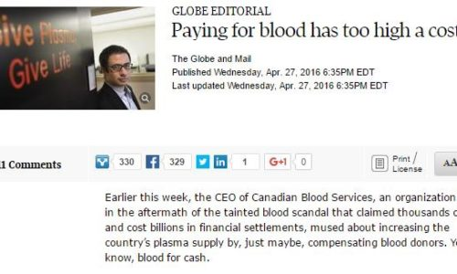 paying for blood